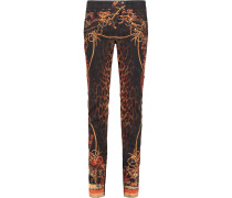 Printed Mid-rise Skinny Jeans Leoparden-Print