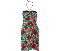 Printed Silk-chiffon Mini Dress Mehrfarbig