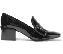 Buckled patent-leather loafers