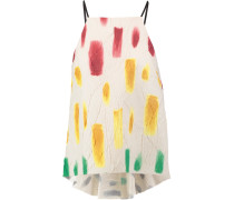 Trapeze Printed Crinkled-gauze Camisole Mehrfarbig