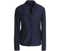 Mohair, wool and silk-blend blazer