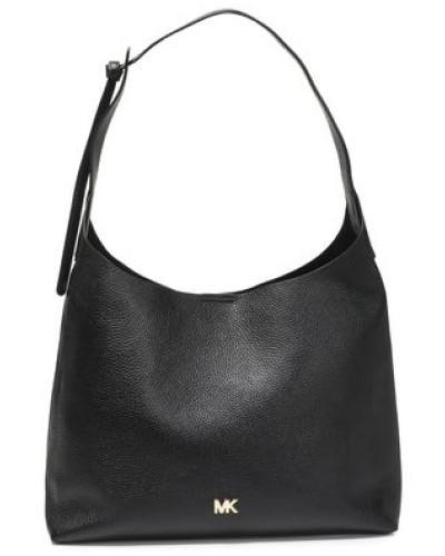 Pebbled-leather Shoulder Bag Black Size --