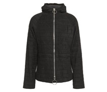 Shirred Shell Hooded Jacket
