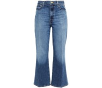 Faded High-rise Kick-flare Jeans