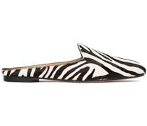 Brando Zebra-print Calf Hair Slippers