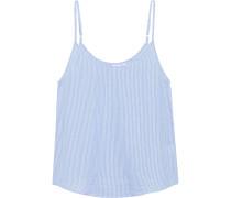 Violette Striped Cotton-jacquard Camisole