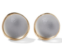 Gold-tone Lucite Earrings Elfenbein