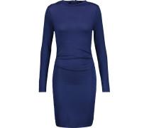 Streeter Ruched Modal-blend Dress Navy