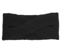 Victoria Ribbed Cashmere Headband Schwarz
