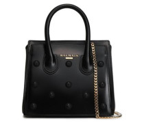 Appliquéd Leather Tote Black Size --