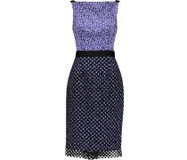 Printed Silk Dress Königsblau