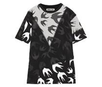 Bedrucktes T-shirt aus Baumwoll-jersey in Patchwork-optik