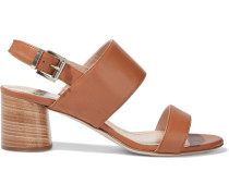 Orchid Leather Slingback Sandals
