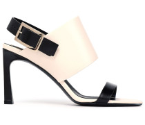 Trompette Two-tone Leather Slingback Sandals