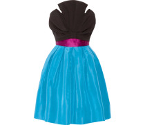 Silk-satin Trimmed Silk-faille Mini Dress Türkis