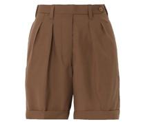 The Husband Shorts aus Grain De Poudre aus Wolle mit Falten