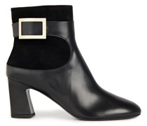 Trompette Leather And Suede Ankle Boots