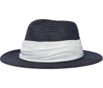 Lillian Satin-trimmed Hemp-blend Sun Hat