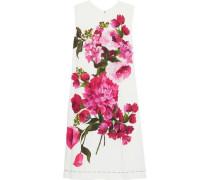 Floral-print silk-blend mini dress