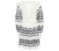 Tamsin Kleid aus Baumwollpopeline mit Print und Rüschen