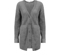 Textured-knit Cashmere Cardigan Grau