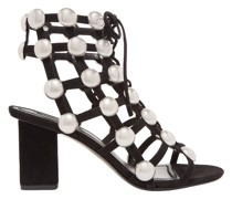 Rainey Studded Caged Suede Sandals