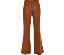 Cotton-blend Twill Flared Pants