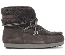 Far Side Low Lace-up Shearling And Suede Snow Boots