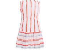 Strandkleid aus Jacquard aus Einer Baumwollmischung mit Streifen