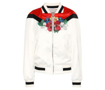 Embroidered stain bomber jacket