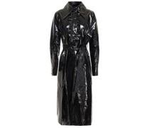 Belted Vinyl Midi Dress