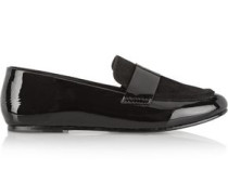 Claude suede and patent-leather loafers