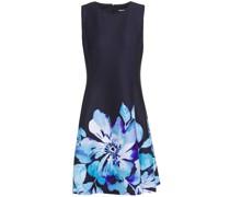 Flared Floral-print Scuba Dress
