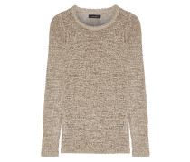 Breezy Open-knit Silk-blend Sweater Beige