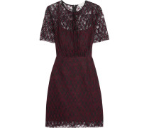 Reply Embroidered Lace Mini Dress Plaume