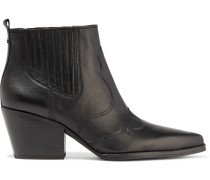 Winona Paneled Leather Ankle Boots