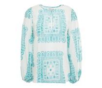 Nalii Bluse aus Baumwoll-voile mit Print