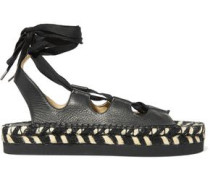 Anita lace-up leather espadrille sandals