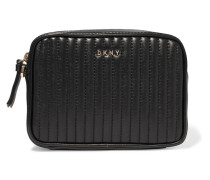 Gansevoort Quilted Leather Clutch Schwarz