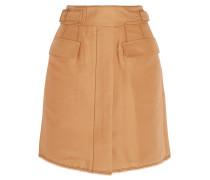 Cotton-blend Mini Skirt Sand