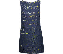 Sea Spray Broderie Anglaise Cotton Mini Dress Navy
