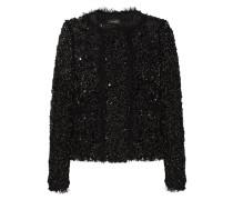 Hervey Sequined Cotton-blend Jacket Schwarz