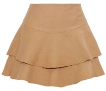 Paloma Layered Linen-blend Shorts