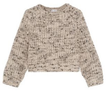 Sequined cashmere and silk-blend sweater