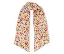 Plumbeach Floral-print Washed-silk Scarf