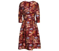 Flared Fil Coupé Floral-jacquard Dress