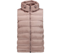 Quilted Shell Hooded Gilet Taupe