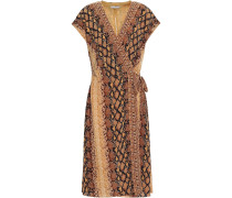 Bethwyn C Snake-print Crepe De Chine Wrap Dress