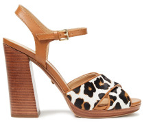 Alexia Leopard-print Calf Hair And Leather Sandals