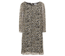Leopard-print Crepe De Chine Mini Dress